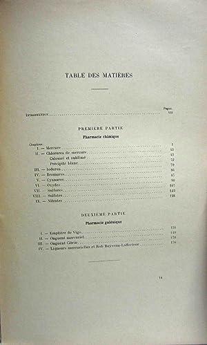 HISTOIRE PHARMACOTECHNIQUE ET PHARMACOLOGIQUE DU MERCURE A TRAVERS LES SEICLES: Michelon, Etienne ...