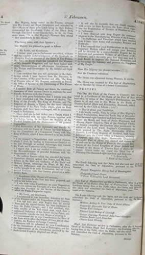 JOURNALS OF THE HOUSE OF LORDS. (VOLUME LXXIV) Beginning Anno Quinto Victoriae, 1842: Members Of ...