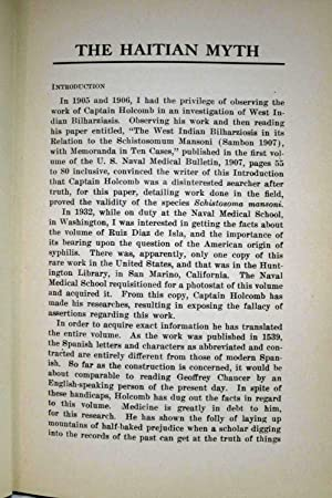 WHO GAVE THE WORLD SYPHILIS? THE HAITIAN MYTH Introduction by C. S. Butler: Holcomb, Richmond C. , ...