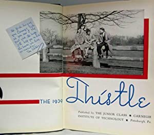 THE 1939 THISTLE Carnegie Institute of Technology, Pittsburgh, Pa.: Various Contributors