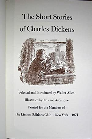THE SHORT STORIES OF CHARLES DICKENS (SIGNED & IN SLIP CASE): Dickens, Charles