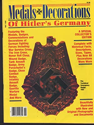 MEDALS DECORATIONS OF HITLER'S GERMANY (VOLUME 1,: Ormsby, John R.