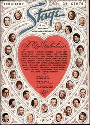 1937 STAGE THE MAGAZINE OF AFTER DARK ENTERTAINMENT February , 1937: Hanrahan, John editor