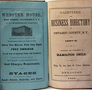 GAZETTEER & BUSINESS DIRECTORY OF ONTARIO COUNTY, NEW YORK 1867-1868: Child, Hamilton