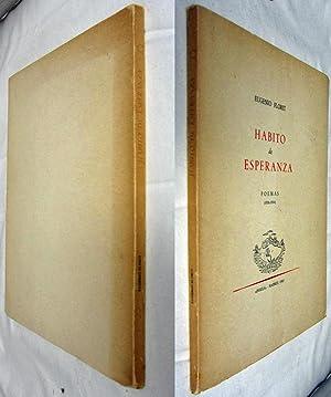 HABITO DE ESPERANZA, POEMAS (1936 - 1964) INSCRIBED COPY: Florit, Eugenio