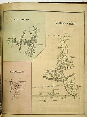 COMBINATION ATLAS MAP OF CORTLAND COUNTY NEW YORK: New York