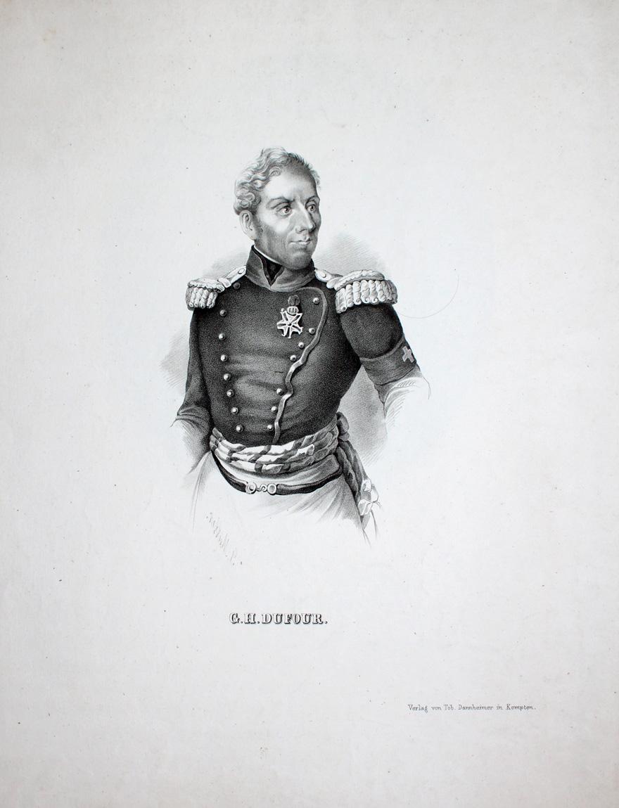 """G. H. Dufour"""" originale Lithographie ca. 20x13cm: Dufour, Guillaume-Henri (1787"""