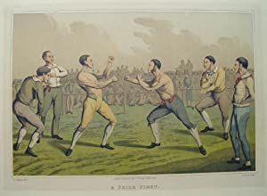 """A Prize Fight."""" originale Farblithographie ca.19,5x29,5cm (Darstellung/image: Alken, Henry Thomas"""
