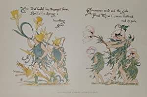 "Flora's Feast"" originale Farb-Lithographie ca.18x30cm (Darstellung/Image size): Crane, Walter (1845"