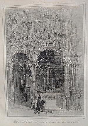 """Der Hauptaltar der Kirche in Dixmuyden"""" originale: Diksmuide:"""