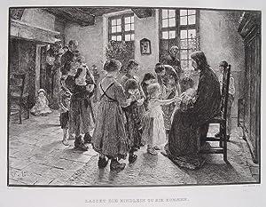 """Lasset die Kindlein zu mir kommen"""" originale: Uhde, Fritz von"""
