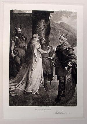 "Götterdämmerung. I. Aufzug"" originale Heliogravure (hier als: Leeke, Ferdinand (1859"