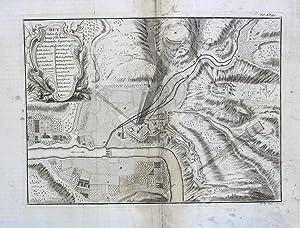 "Huy. Taken by ye Army of the States General, August 25.1703"" originale Kupferstich-Karte ca..."
