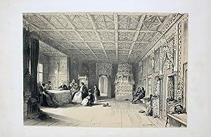 """Salle des Princes a Hohensaltzbourg"""" originale Lithographie: Haghe, Louis (1806"""