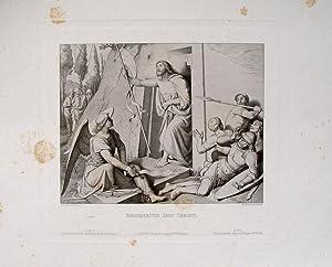 "Resurrectio Jesu Christi"" originaler Stahlstich ca.18x23cm (Darstellung/Image: Overbeck, Friedrich (1789"