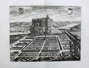 """Hörningsholm"""" originaler Kupferstich von zwei Platten ca.26x34cm: Schweden:"""