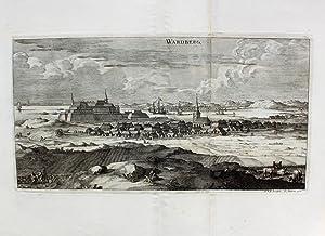 """Wardberg"""" originaler Kupferstich von zwei Platten ca.21x39cm: Schweden:"""