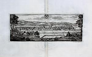 """Arboga"""" originaler Kupferstich von zwei Platten ca.13x34cm: Schweden:"""