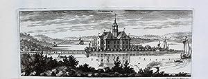 """Sundholm"""" originaler Kupferstich von zwei Platten ca.13x33cm: Schweden:"""