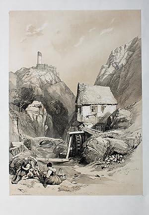 "In the Hunsruck near Berncastle"" originale Lithographie: Hunsrück:"