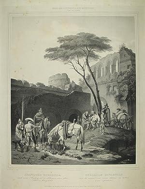 """Spanische Guerilla"""" originale Kreidelithographie ca.41x34cm auf Japan: Heideck, Carl Wilhelm"""