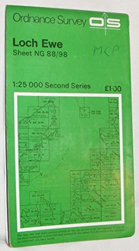 Loch Ewe 1:25000 Map Second Series Sheet NG 88/98