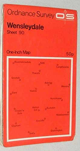 Wensleydale. One-inch Map of Great Britain Sheet 90. 1:63360 Seventh Series