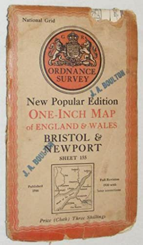 Bristol & Newport, Sheet 155 One-Inch Map of England and Wales New Popular Edition