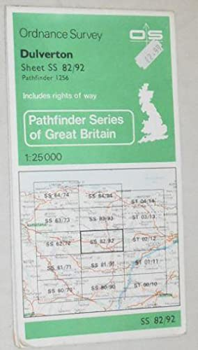 Dulverton 1:25000 Pathfinder Map Sheet SS 82/92 (1256)