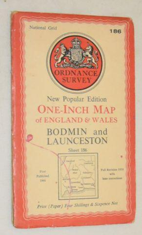 Bodmin and Launceston. Sheet 186 One-Inch Map of England & Wales, New Popular Edition