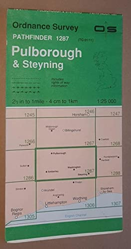 Pulborough and Steyning 1:25000 Pathfinder Map Sheet TQ 01/11 (1287)