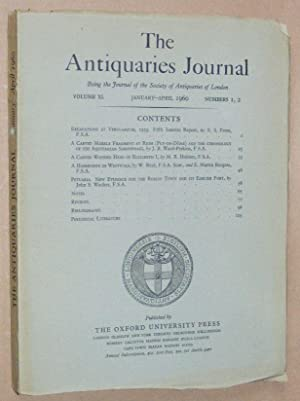 The Antiquaries Journal January - April 1960, Vol. XL Numbers 1, 2