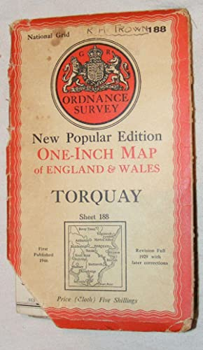 Torquay: One-inch Map of England & Wales Sheet 188, New Popular Edition