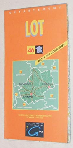 Lot 46: Departement Carte Routiere et Admimistrative Echelle 1:125000