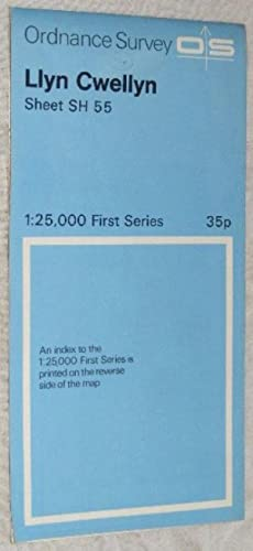 Llyn Cwellyn: Sheet SH 55 1:25000 First Series Map