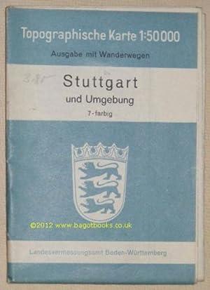 Stuttgart und Umgebung. Topographische Karte 1:50000 Ausgabe: Landesvermessungsamt Baden-Württemberg