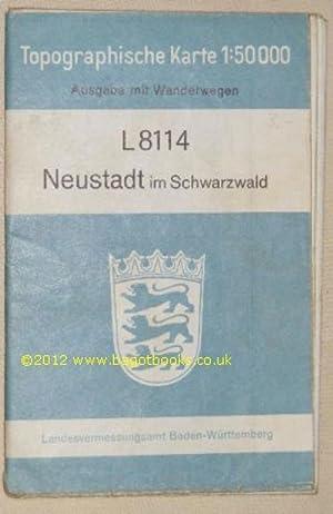 L8114 Neustadt im Schwarzwald. Topographische Karte 1:50000: Landesvermessungsamt Baden-Württemberg