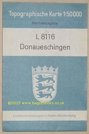 L8116 Donaueschingen. Topographische Karte 1:50000 Normalausgabe: Landesvermessungsamt Baden-Württemberg