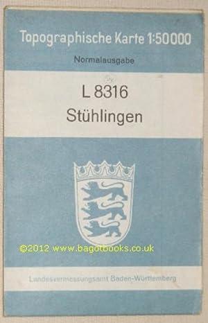 L8316 Stühlingen. Topographische Karte 1:50000 Normalausgabe: Landesvermessungsamt Baden-Württemberg