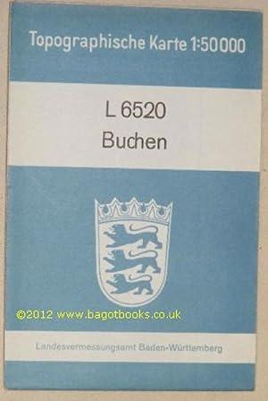 L6520 Buchen. Topographische Karte 1:50000: Landesvermessungsamt Baden-Württemberg