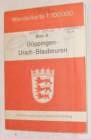 Blatt 8: Göppingen - Urach - Blaubeuren.: Landesvermessungsamt Baden-Württemberg