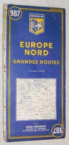 Michelin Map 987. Europe Nord Europa, Grandes Routes / Strassenkarte 1/100000