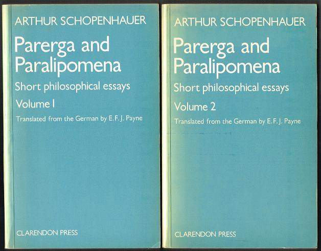 essay ii paralipomena parerga philosophical short volume