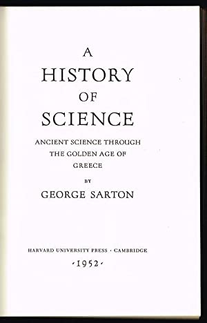 History of Science: Ancient Science Through the Golden Age of Greece