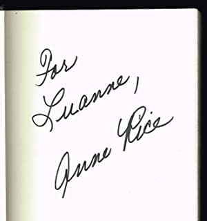 Lasher (SIGNED FIRST EDITION): Rice, Anne