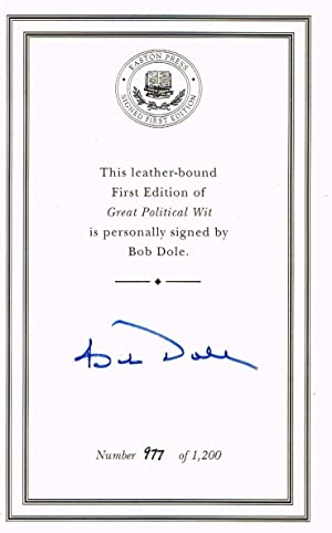 Great Political Wit (LIMITED SIGNED FIRST EDITION)