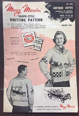 Mary Maxim Graph Style Knitting Pattern No.: Mary Maxim