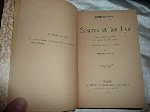 Sésame et Les Lys,1906 Edition Originale de: Proust Marcel et