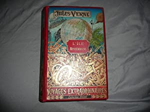 L' ile mystérieuse, cartonnage polychrome Hetzel à: Jules Verne