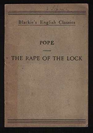 a critique of rape of the lock by alexander pope Rape of the lock - a comic epicposted by last island 1 comments an epic, according to aristotle, is the tragedy of a conspicuous person.